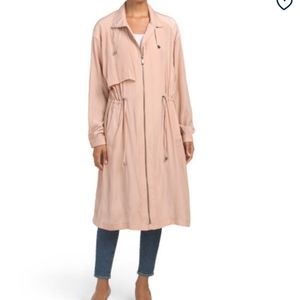 Bcbgmaxazria Long draped anorak coat XS